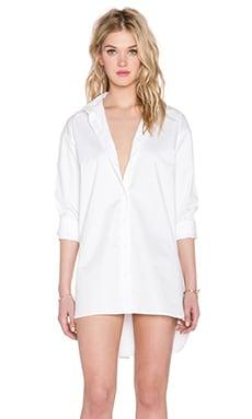 Tibi Essential Shirt Dress in White