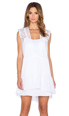 Tibi Sleeveless Pintuck Dress in White