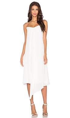 Tibi Strapless Towel Dress in Ivory