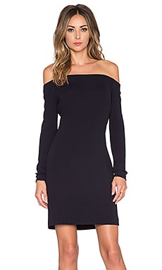Tibi Off Shoulder Dress in Black
