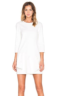 Tibi Agathe Ruffle Dress in Ivory