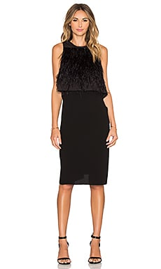 Tibi Double Layer Dress in Black