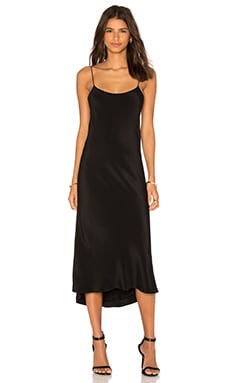 Tibi Bias Dress in Black