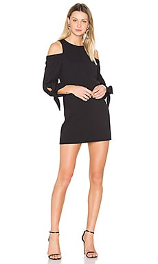Shoulder Tie Sleeve Dress in Black