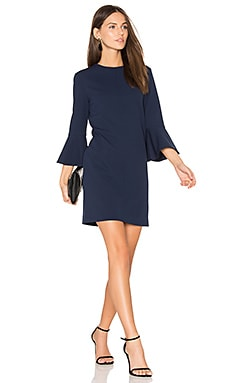 Bell Sleeve Dress in Midnight Navy