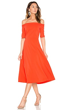 Elbow Sleeve Dress in Vermillion Red