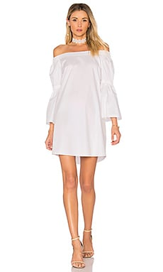 Lantern Sleeve Dress in White