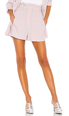 Stripe Viscose Twill Pull On Short Tibi $140 Collections