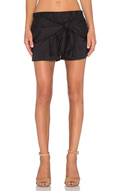Tibi Tie Front Short in Black