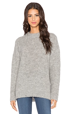 Tibi Oversized Long Sleeve Pullover in Light Grey
