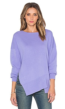 Tibi Funnel Neck Pullover Sweater in Lilac Mist