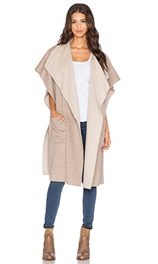 Tibi Wool Coat in Oatmeal