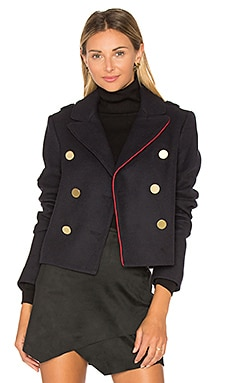 Cropped Peacoat in Navy