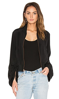 Sculpted Bomber Jacket in Black