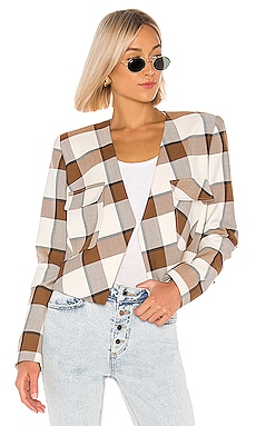 Dylan Plaid Cropped Jacket Tibi $348 Collections
