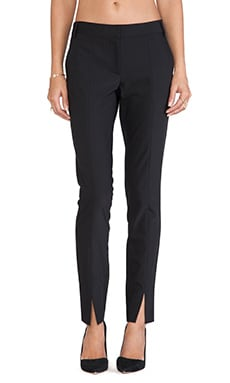 Tibi Tropical Slit Pant in Black