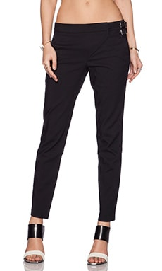 Tibi City Stretch Skinny Pant in Black