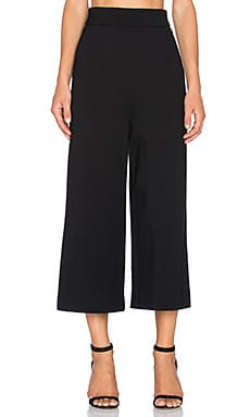Tibi Bond Stretch Knit Gaucho in Black