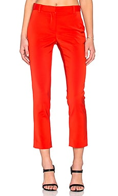 Tibi Cropped Beatle Pant in Scarlet Red