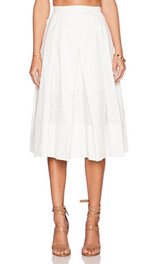 Tibi Riko Eyelet Origami Skirt in White