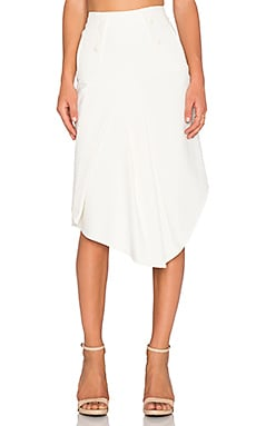 Tibi Anson Draped Skirt in Ivory