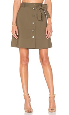 Tibi Cargo Skirt in Moss
