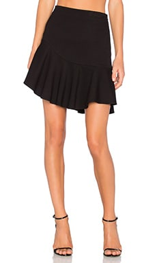 Ruffle Mini Skirt in Black