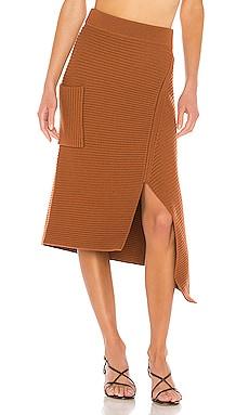 Merino Rib Sweater Origami Slit Skirt Tibi $450