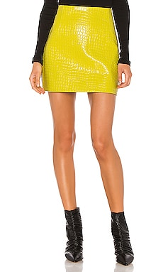 Croc Embossed Patent Mini Skirt Tibi $345