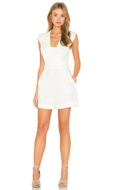Tibi Pleated Jumpsuit in White
