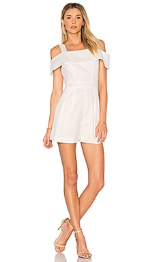 Seersucker Short Romper in White