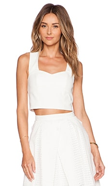 Tibi Agathe Sleeveless Corset Top in Ivory