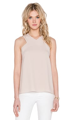 Tibi V Neck Tank in Pale Chai