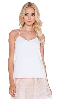 Tibi Savanna Strappy Cami in White