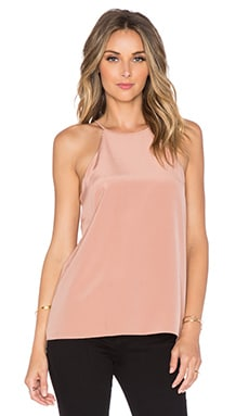 Tibi Halter Cami in Terracotta