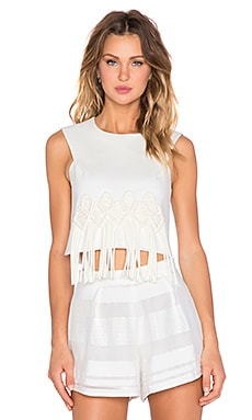 Tibi Crop Top in Ivory