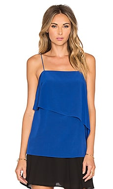 Tibi Draped Cami in Proton Blue