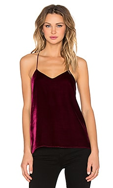 Tibi Silk Velvet Cami in Wine
