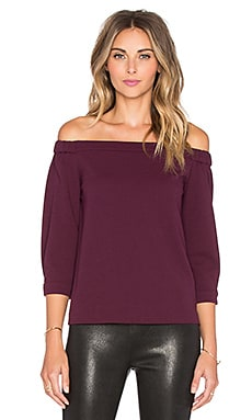 Tibi Off Shoulder Top in Wine