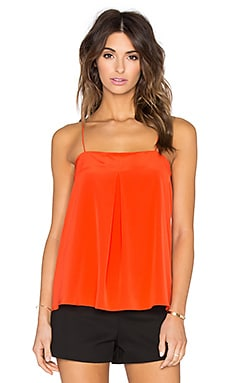 Tibi Front Pleat Cami in Scarlet Red