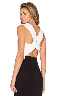 Tibi Apron Cropped Top in Ivory