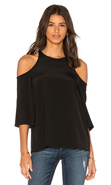Tibi Cut Out Top in Black