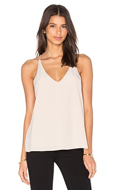 Tibi Cami Top in Morro Sand