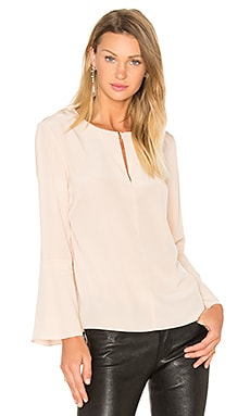 Tibi Split Neck Belle Top in Apricot