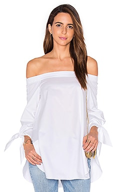 Off The Shoulder Tunic in White