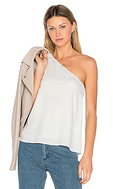 One Shoulder Ruffle Top en Ivory