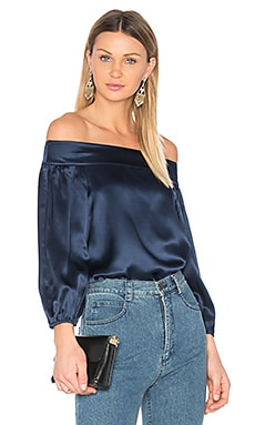 Off Shoulder Top in Navy