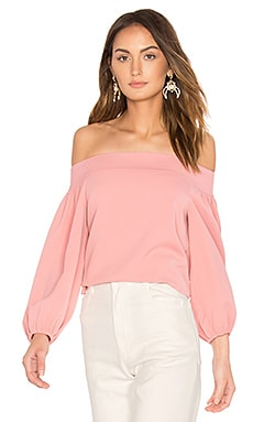 Off Shoulder Top in Pitaya Pink