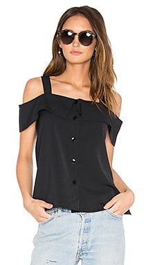 Strappy Off Shoulder Top en Noir