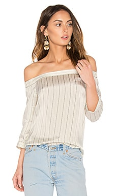 Off Shoulder Top in Ivory Multi